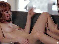 Jayden Cole and Mariem Ccray polish one another