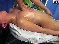 Brunette Mandie wants mans rod to fuck her mouth