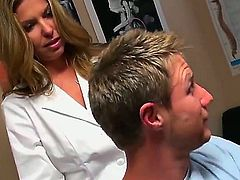 Blonde gets drenched in cum in crazy cumshot action