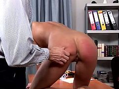 Cruel teacher knows how to punish his D students. He simply get them undressed and slap their booties with items like rulers in sizzling hot sex video by DDF Network.