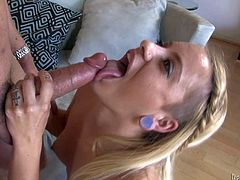 Handsome famous fucker Will Powers with brings home young mistress and gets his cock sucked good by his her and his lusty wife in mind blowing threesome filmed in close up