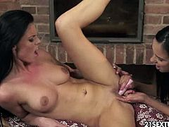Watch the gorgeous brunette lesbians Victoria Sweet and Eileen Young setting a hot private party. After munching and fingering their shaved slits they're ready to get even nastier.