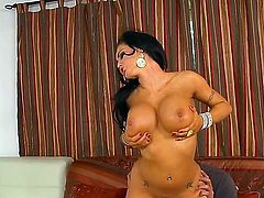 All brunette housewife Jenna Presley needs to do is show off her round fake tits and his dick is gonna rise like never before. She is one of the best cock suckers.