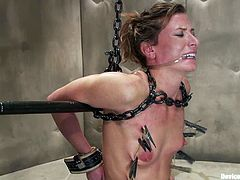 Ariel X is the girl getting toyed and tortured in this wild BDSM video packed with bondage and more kinky action.