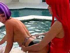 Blonde Molly Cavalli with phat ass and bald snatch spends time rubbing her muff