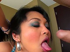 Awesome deep throat blowjob is done by the sweet asian girl Mika Tan, that was payed by Jonni Darkko for this job a couple of bucks. Enjoy the hot blowjob video.