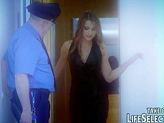 Bruno Dominant is a security guard with lots of hidden cameras as he watches these babes get nailed with hard cocks either getting banged in the pussy, ass, or mouthing it. Ashley, Doris Ivy, Coco de Mal, Lucy Heart, and Yiki are the babes he watches.