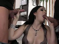 Angell Summers does striptease before she masturbates with passion