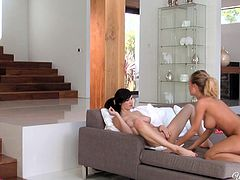 Damn, these sizzling dykes are gorgeous women who are able to blow your mind. They perform extremely arousing lesbian sex scene filming in a quality Twistys sex movies.