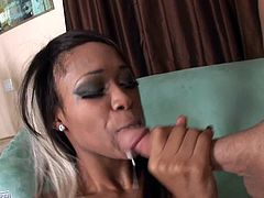Busty ebony with big tits loves white cock fucking her hard and making her scream like sluts