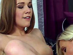 Blonde Dido Angel doing dirty things with Alexis Crystal in lesbian action