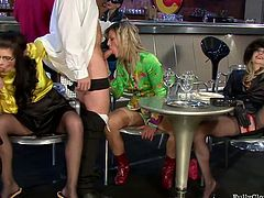 When it comes to getting an orgy together these cum addicted sluts are the best of the best. See the sexiest chicks giving blowjobs in hot group sex video by Tainster.