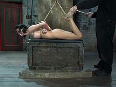 It's BDSM shit with the brunette Bailey Brooks getting totally tied up and toyed in a bondage and domination video.