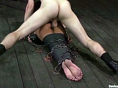Wild Bondage Fucking for Brunette Gia Dimarco in BDSM Vid
