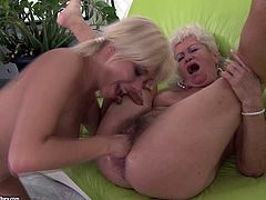 A hot compilation of lesbian scenes with mature and old ladies. Watch it if you enjoy seeing hairy cunts being licked and fingered.