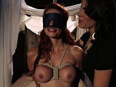 Hot babe with big tits gets her naked body punished by super hot mistress. She gets her ass spanked, her pussy toyed hard and deep and what not!
