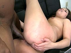 Go for the hottest Fame Digital sex tube video featuring nice big white ass which swallows massive impressive black cock like greedy in cowgirl style.