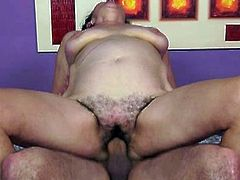 Horny guy's grandma need to get fucked by his young cock,She just love to suck young cock and seduce young guys,Today is her lucky day because she got what she dream off,Hardcore sex with young strong cock, Enjoy!