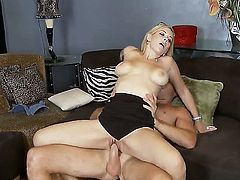 Kylie Knight with huge breasts takes sex to the whole new level as she does it with horny fuck buddy Levi Cash