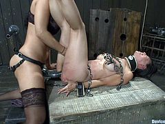 Check out this crazy ass bondage scene with a gorgeous Asian fucking whore as she gets toyed with in this insane video right here!