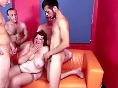 Check this hardcore video where a fat mature is fucked silly by horny guys in a gangbang as she ends up covered by cum.