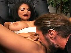 Sophia Lomeli with giant tits and trimmed beaver is ready to play with her love hole 24/7