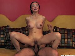 Tight Asian MILF Ange Venus deepthroats and gets her butt fucked