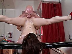 Jenna Ross is curious about oral sex with hard cocked dude Johnny Sins