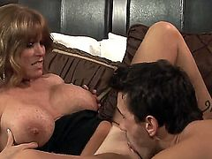 Darla Crane shows oral sex tricks to Manuel Ferrara with desire