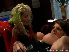 These blondie and brunette with nice boobs wanna make a salad in each other's wet pussies. They take some carrots and greens and plug them in the pussies polishing them properly. Gosh, you just need to see weird but surely hot lesbos in Pack of Porn sex clip to be both impressed and pleased at once.