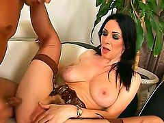 Stacked chick getting hammered good and hard by mans sturdy love stick