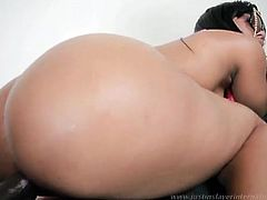 She likes bending that ass and having huge cock sliding her warm pussy