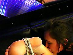 Young black haired babes Belladonna, Sarah Shevon and Sinn Sage with natural boobs and slim bodies lick each others wet pussies in mind blowing threesome filmed in close up.