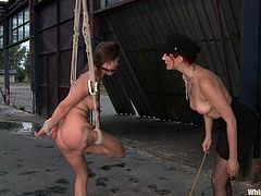 A dominant whore will have a blast today because she gets to play with two submissive girls in a hot BDSM session.
