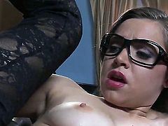 Horny Keiran Lee enjoys feeling young Tiffany Star blowing his cock so fine