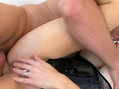 Spend unforgettable time watching anal sex with nasty bitch Mckenzie Lee. She is getting caressed by perverted man before feeling his giant penis entering her butt.