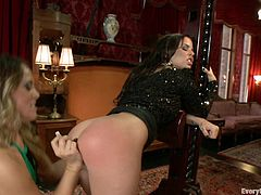 This hardcore anal insertion scene features a couple of kinky broads doing unbelievable things with their butts, check it out!