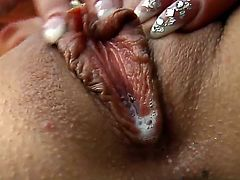 Honey Demon and Valentina Blue are horny and in need to stimulate their wet vags during pron session