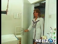 See the fiery and perverse redhead temptress Heidi devouring her man's dong before riding it balls deep into heaven with her hairy pussy in this vintage hardcore vid.