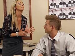 Bigtitted Abbey Brooks bump in office