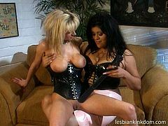 Two awesome and jaw dropping lesbians are together. What can happen except for pussy tickling? Torrid chicks wear corsets, which can hardly hide their huge boobs. Booty nymphos are pros in fingering, rubbing and licking wet pussies and worth checking out in Pack of Porn sex clip right away.