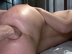 She was convicted and the only way to have sex is to be a sex slave of the jail's head. He loves fucking her in ass and she loves it too!