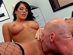 Johnny Sins bangs heavy chested Savannah Stern