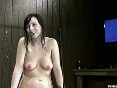 Lindy Lane is the brunette chick getting dominated, toyed and tortured in this BDSM porn video with some pretty wild stuff going on.