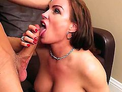 Diamond Foxxx with bubbly ass and shaved pussy spends her sexual energy with hard dicked guy Logan Pierce