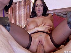 Ava Addams and her friend Missy Martinez are big breasted sex obsessed brunettes that share a boner with wild desire in three-way bedroom action. Big titted women suck and ride that rod like mad.