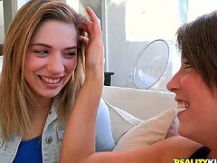 If you are a lover of lesbian porn then this video is definitely for you. The girls are trying lesbian sex for the very first time! First they undress each other and then they kiss each other tenderly and sensually.