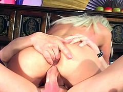 Horny mature lady gets super dirty in this wild scene of raw anal sex. Nasty whore opens her legs and gets her asshole banged hard and deep.
