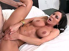 Kendra Lust with round booty having vigorous sex