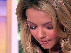 Ashlynn Brooke with massive tits and clean muff puts on a solo show you must see